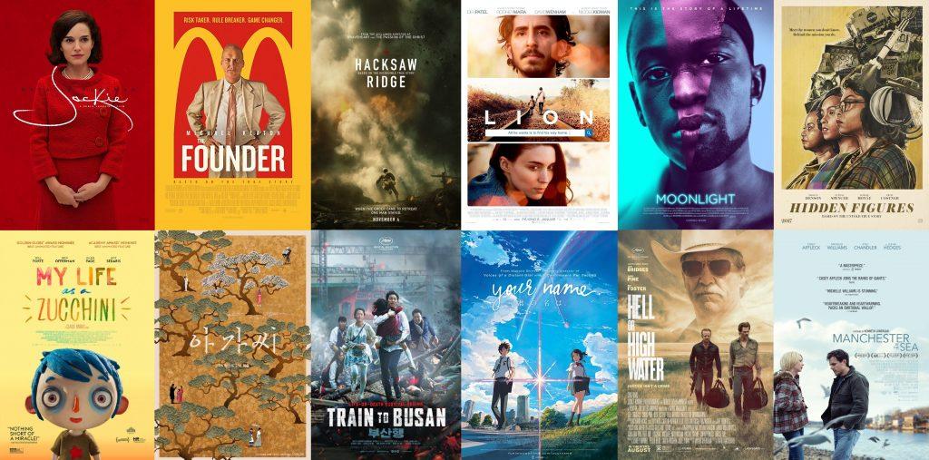posters de películas del 2016 vistas en 2017
