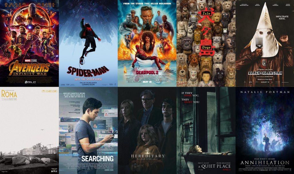 Nuestras 10 Películas Preferidas en 2018