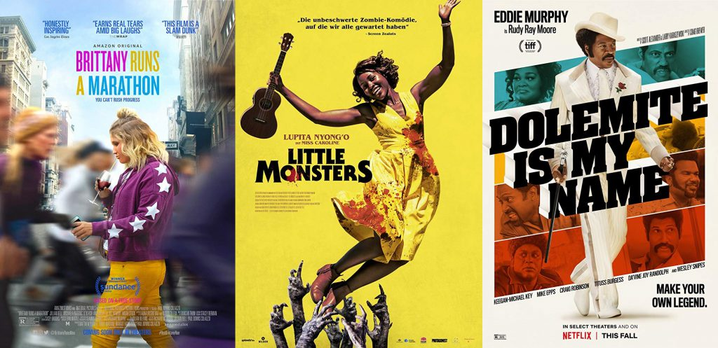 POSTERS LITTLE MONSTERS, DOLEMITE IS MY NAME Y BRITTANY RUNS A MARATHON